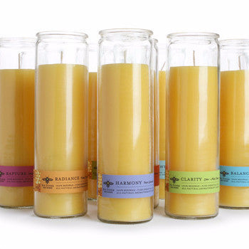 Beeswax Aromatherapy Sanctuary Glass | Candles | 100% pure Beeswax