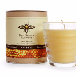 Beehive Glass Candle | Pure Beeswax | With Gift Box
