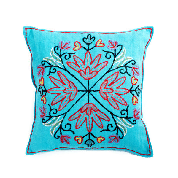 "Kashmir Embroidered Pillow | 18"" x 18"""