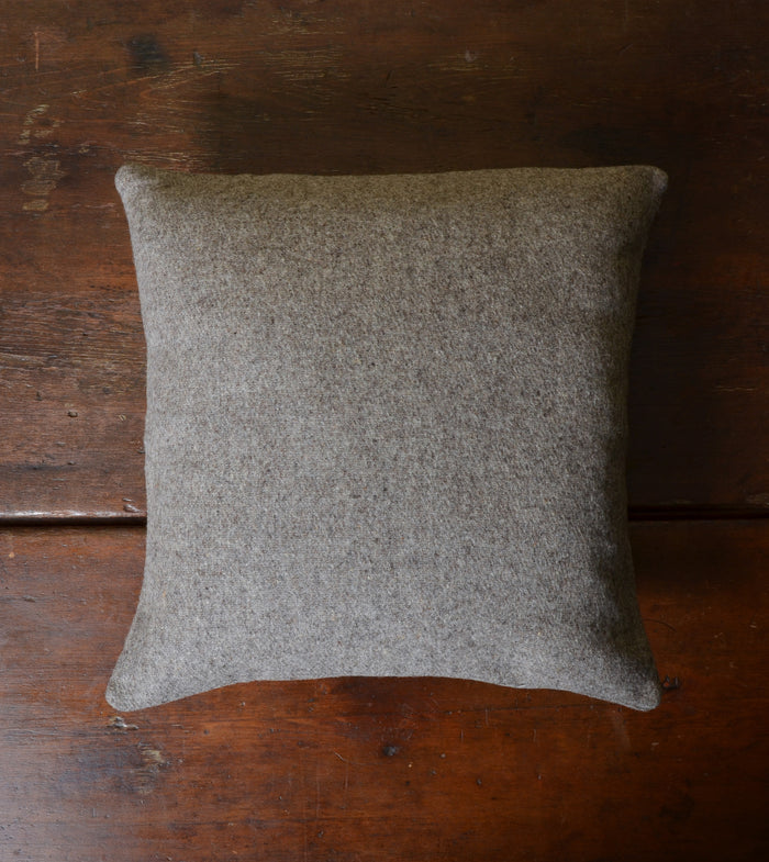 Charcoal' Virgin Wool Pillow by Mexchic.  100% virgin, all natural, unprocessed Mexican wool.  #Handcrafted #FairTrade #Sustainable #ThreeHeartsHome