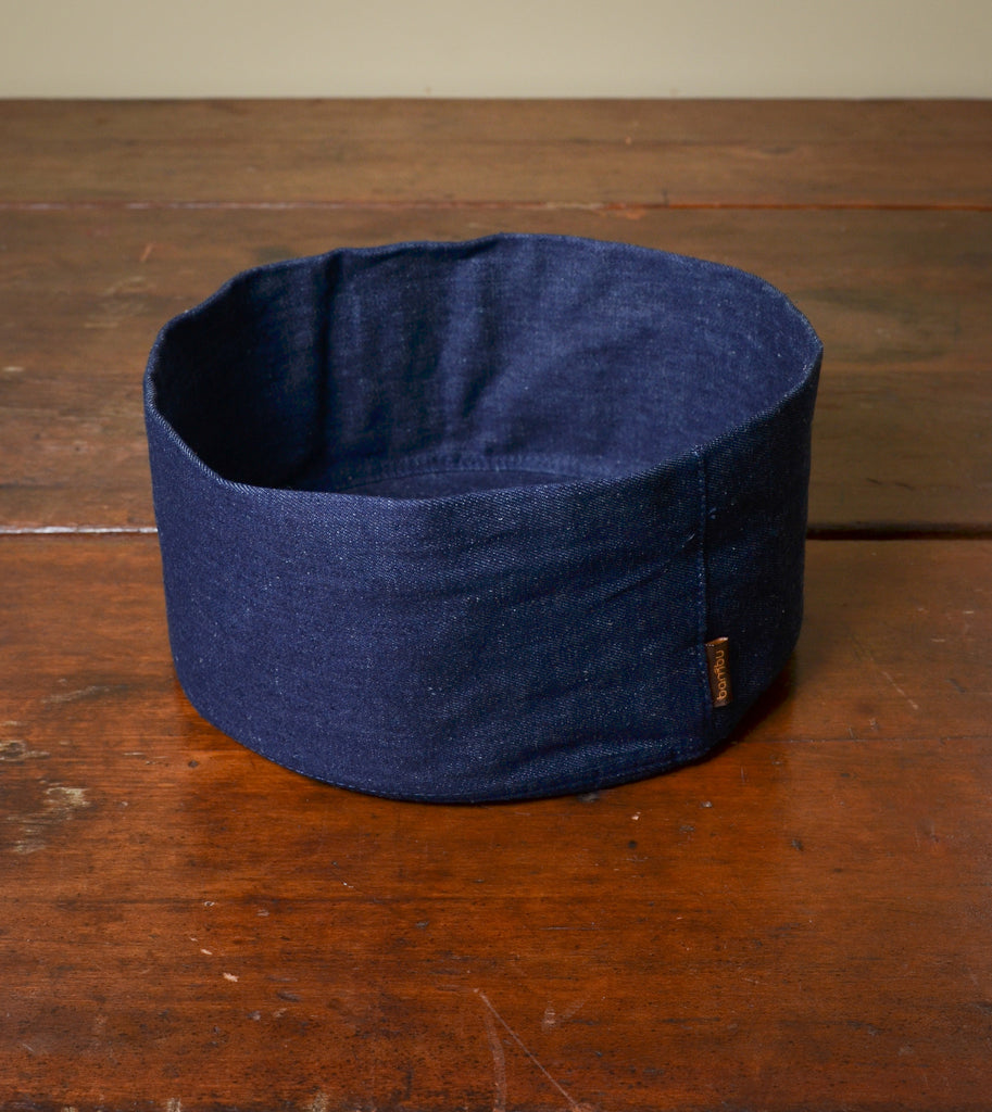 Adjustable Hemp Denim Soft Bowl by bambu. #Handcrafted #Sustainable #FairTrade #ThreeHeartsHome