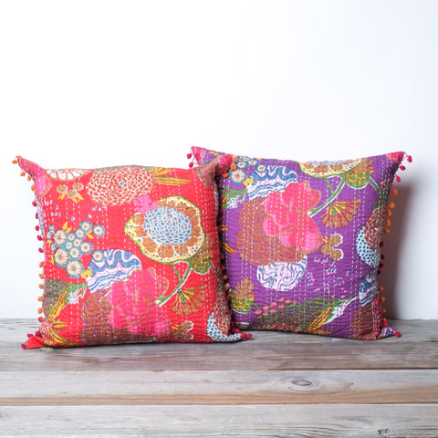 "Handstitched Jogi Pillows | 18"" x 18"""