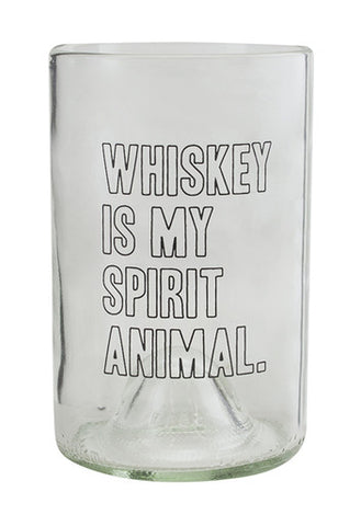 Whiskey Is My Spirit Animal | Made From Bordeaux Wine Bottles