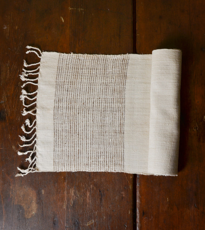 Handwoven Organic, Nonviolent Silk Runner by Sustainable Threads.  #Handcrafted #Organic #FairTrade #ThreeHeartsHome