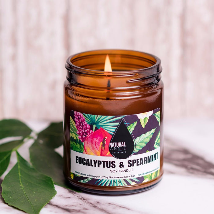 NaturalAnnie Essentials | Soy Candle Eucalyptus & Spearmint