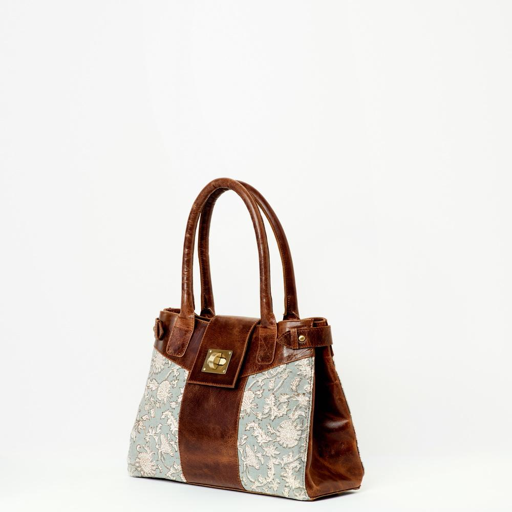 Suneli Leather Handbag | Brown