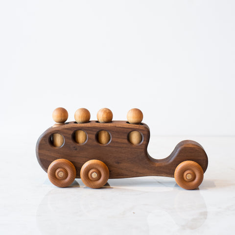 Handmade Wooden Toy | Bus with Kids