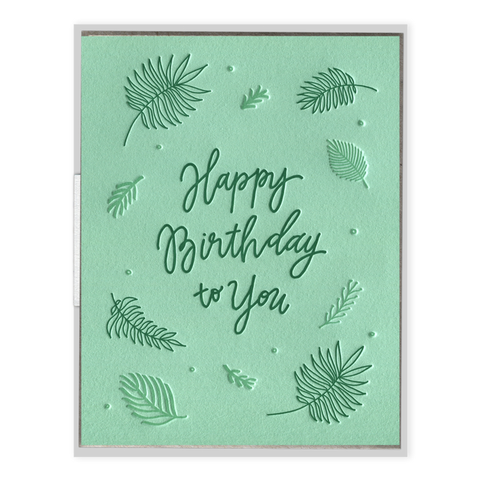"""Birthday Ferns"" Birthday Card"