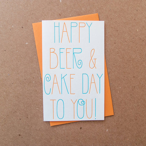 """Beer and Cake Day"" Birthday Card"