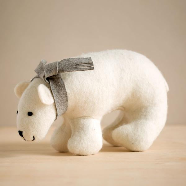 Hand Felted Medium Polar Bear