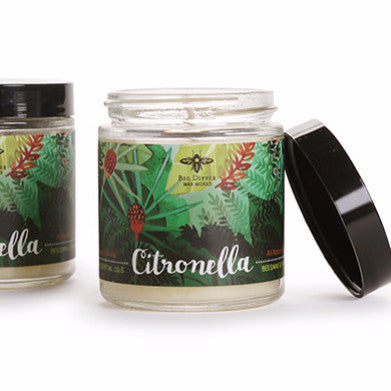 Citronella Apothecary Glass | Candles | Beeswax and Soy Blend