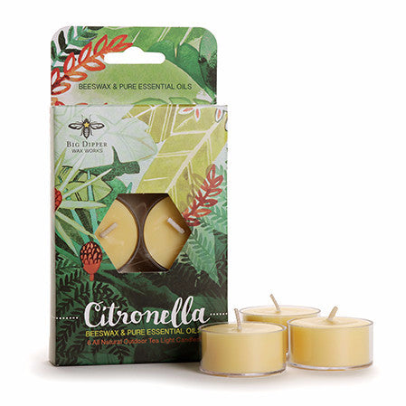 Citronella Beeswax Tea Lights | Beeswax & Soy Candle with Essential Oils