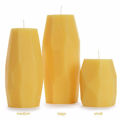 Faceted Pillars | 100% Pure Beeswax