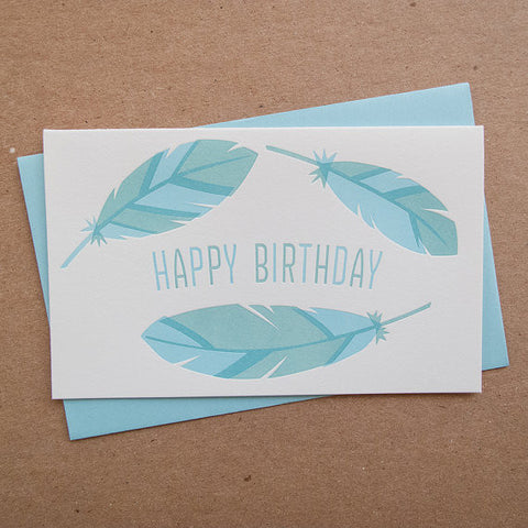 """Feather"" Birthday Card"