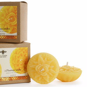 Beewax Floating Candles | 100% Pure Beeswax