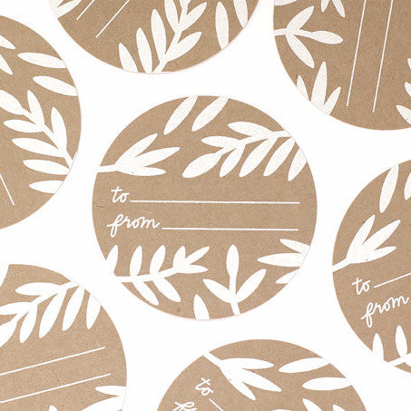10 pack of Foliage Gift Tag Stickers