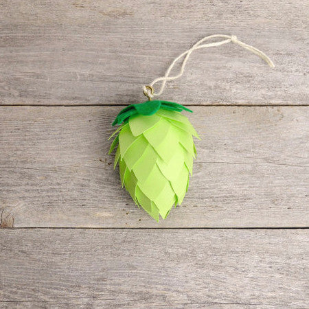 Beer Lover Christmas Ornament | Green Hops