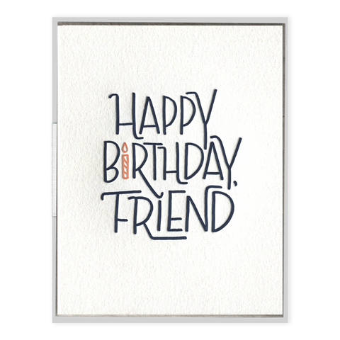 """Happy Birthday Friend"" Birthday Card"