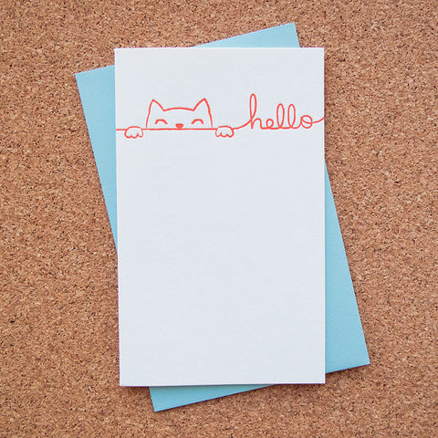 """Hello Kitty Cat"" Card"