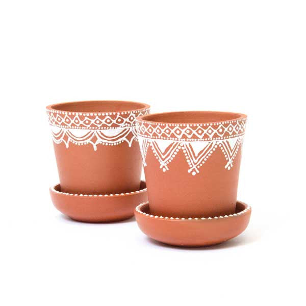 Fair Trade Earthenware Herb Pot | Small