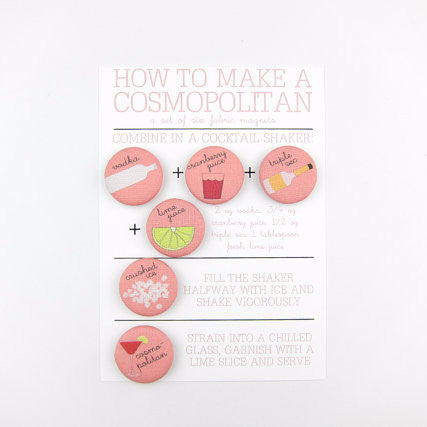 Set of Fabric Magnets | How to Make a Cosmopolitan