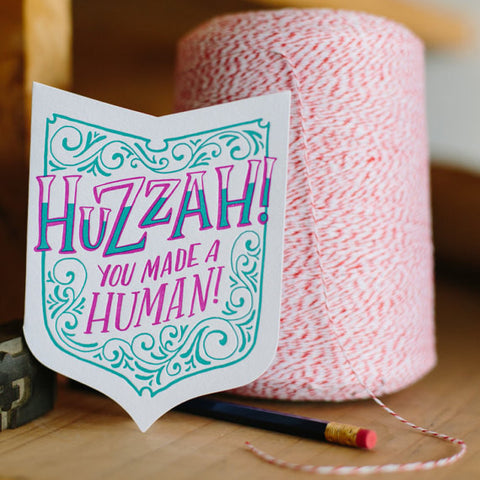 Baby Card | Huzzah! You Made A Human!