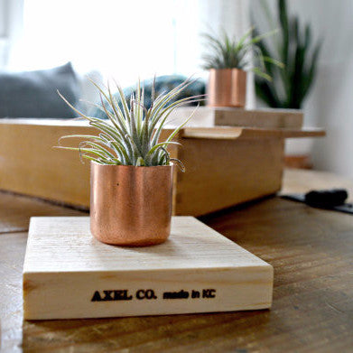 Reclaimed Wood and Copper Planter