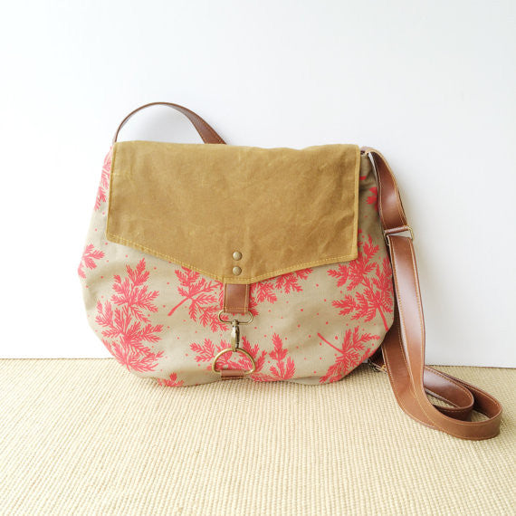 Waxed Canvas Crossbody Satchel