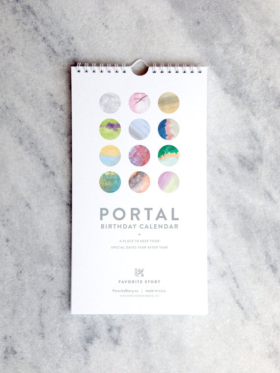 Perpetual Birthday Calendar | Portal | Watercolor Washes