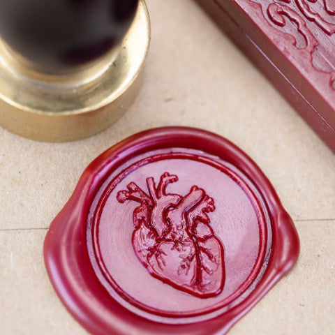 Anatomical Heart Wax Seal Kit | Wax stamp | Sealing Wax