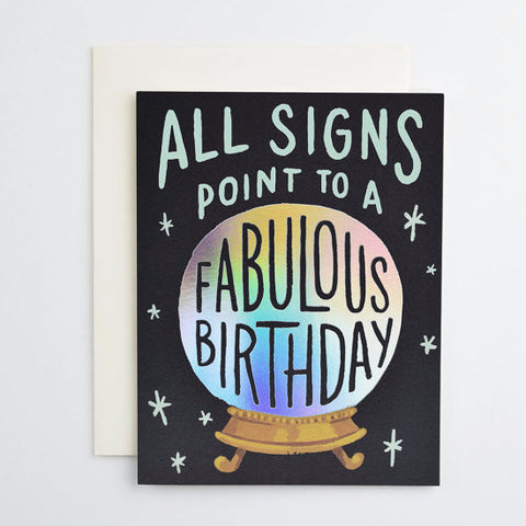 Crystal Ball Birthday card