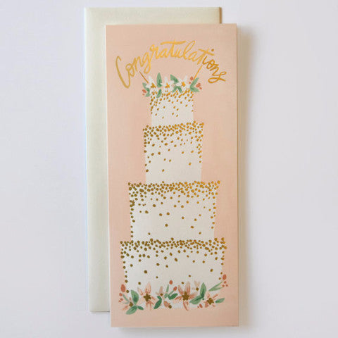4-tier wedding cake card - Wedding congratulations