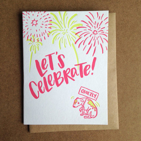 Greeting Card | Let's Celebrate (Quietly)