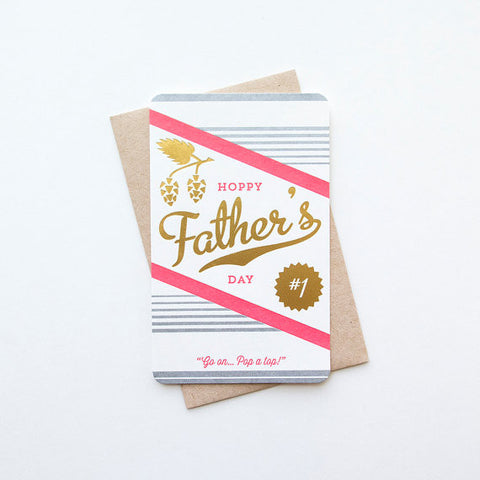 """Hoppy Father's Day"" Foil Card"