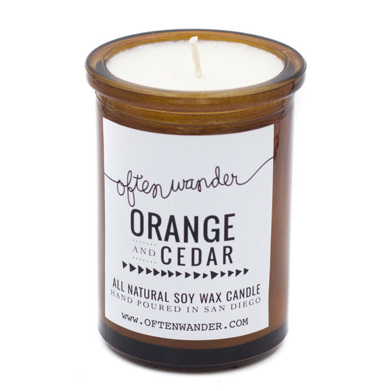 Soy Candles | Orange and Cedar | Home Fragrance