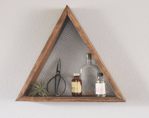 Triangle Wall Art Shelf