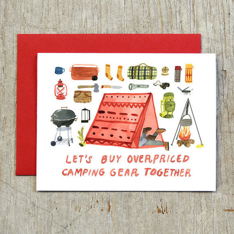 Water Color Card | Camping Gear