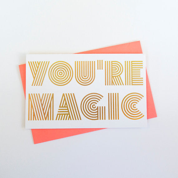 """Magical Love"" Holographic Foil Card by Anemone Letterpress, available at Three Hearts Home"