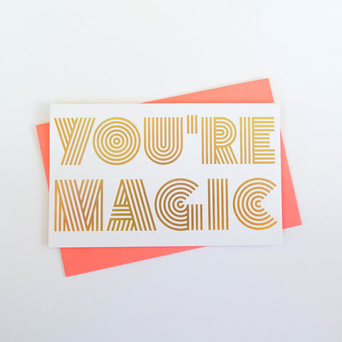 """Magical Love"" Holographic Foil Card"