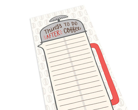 Coffee Notepad | To Do List | Coffee Lover