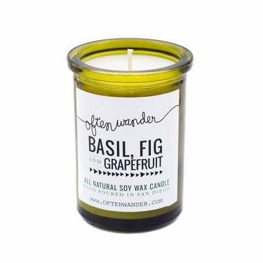 Soy Candles | Basil, Fig and Grapefruit | Home Fragrance