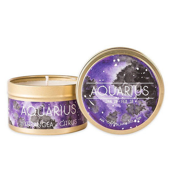 Astrological Candle | 100% Natural Soy Wax | Travel Size