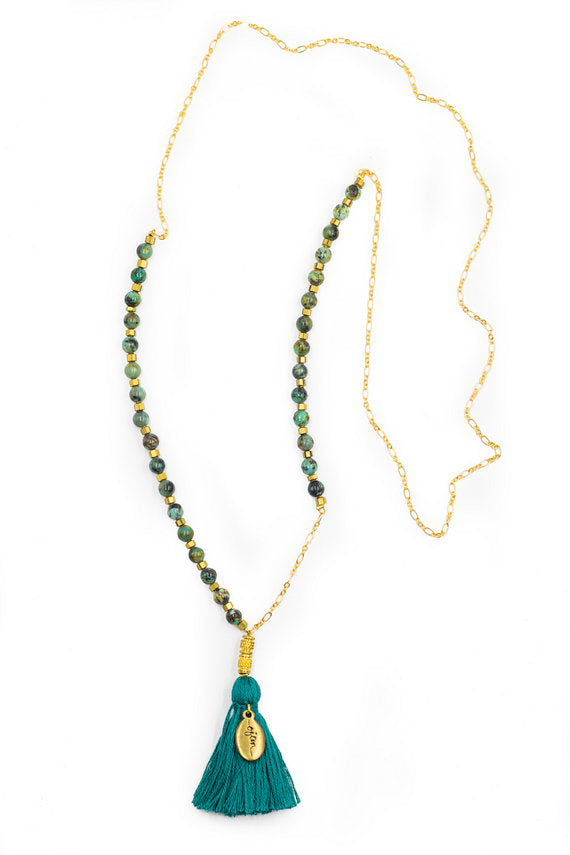 """Reverie"" Rosary/Mala Inspired Necklace 