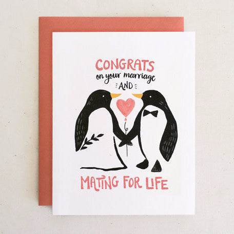 """Mate for Life"" Wedding Card"
