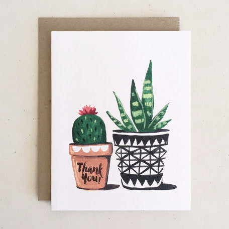 """Cactus and Aloe"" Thank You Card"