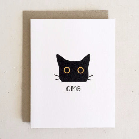 """OMG"" Card by Paper Pony Co., available at Three Hearts Home"
