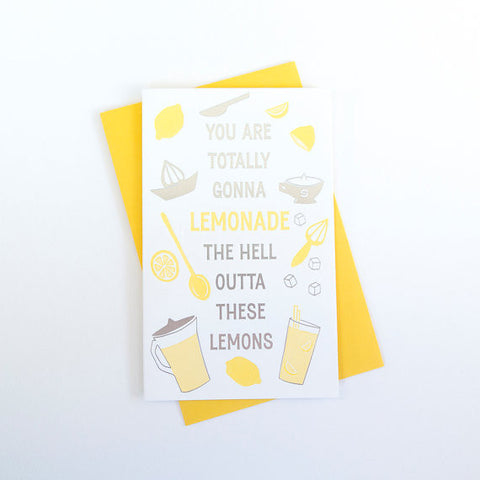 """Lemonade"" Encouragement Card"