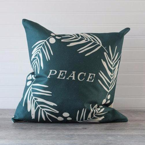Holiday Christmas Pillow | Peace
