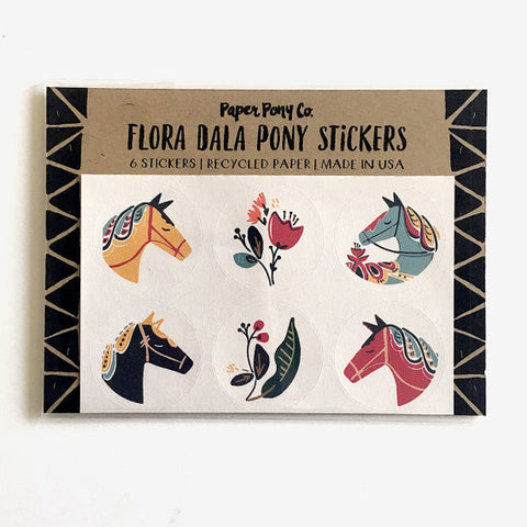 """Flora Dala"" Set of 6 Stickers"