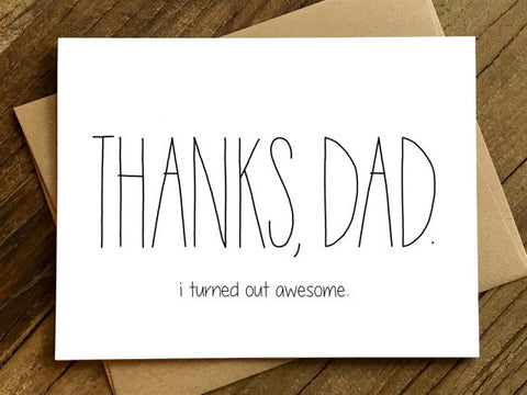 Father's Day Card | I'm Awesome